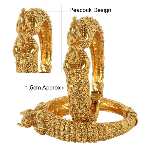 Peacock Traditional Openable Bangle with Crafting Work for Women