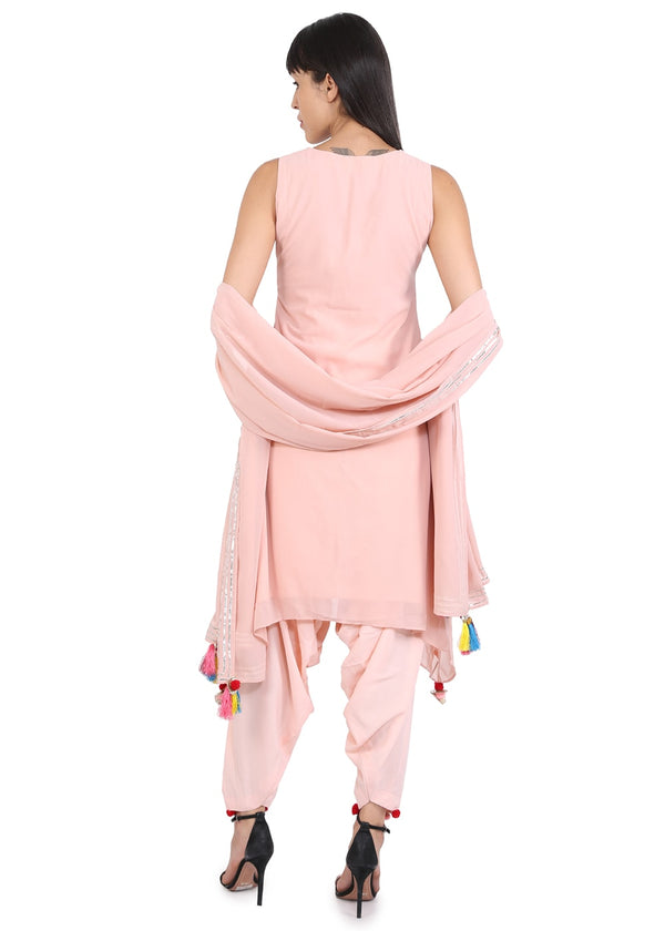 Pink Colour Designer Suit With Gotta Patti Work & Dupatta