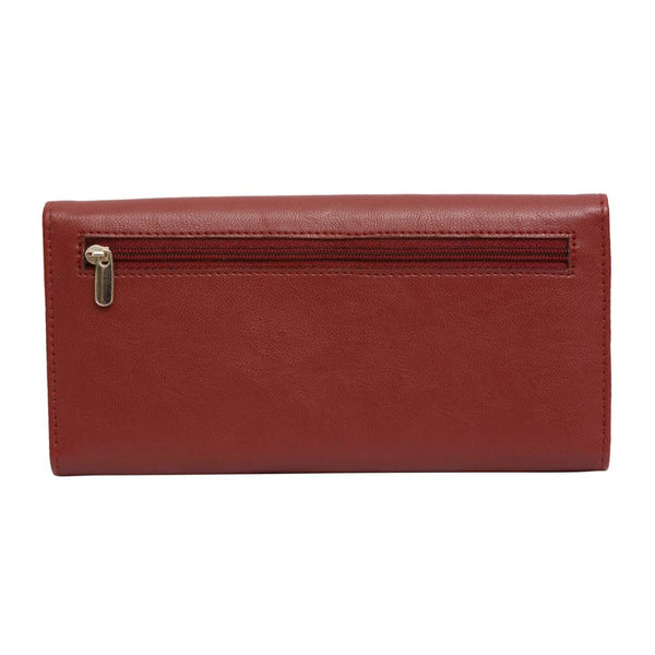 Pink Potato Red Leather Wallet for Women