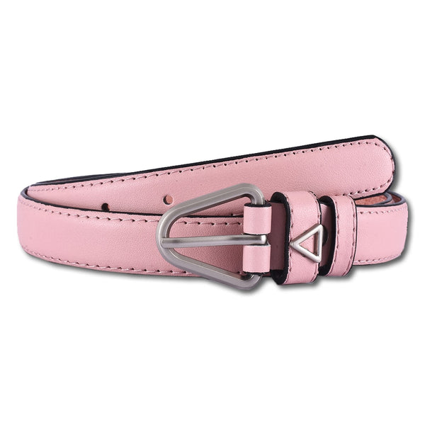 Pink Synthetic Leather Belt
