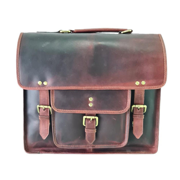 Pull-Up Leather Laptop Satchel Bag