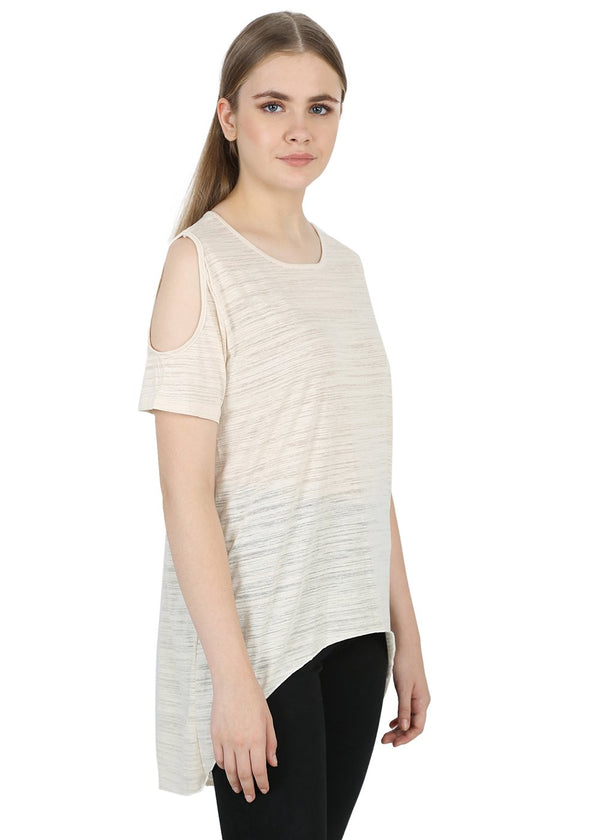 Creamy Round Neck Top
