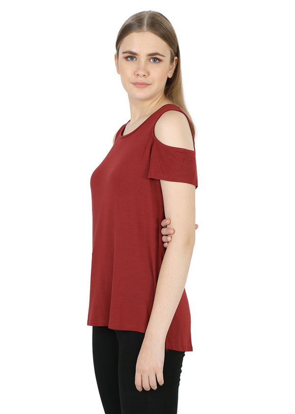 Maroon Ladies Top