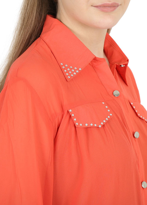 Polo Collar Top