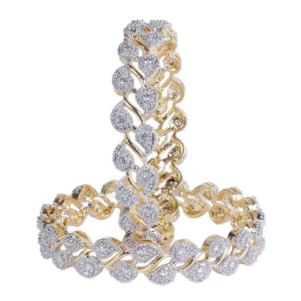 Silver Diamond Bangles For Women