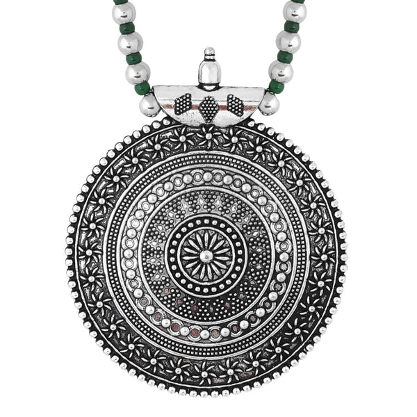 Silver Plated Oxidized Tribal Jewellery Necklace Set Women Girls Gift Item