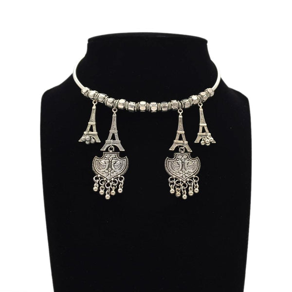 Silver Coloured Oxidised Jewellery For Women