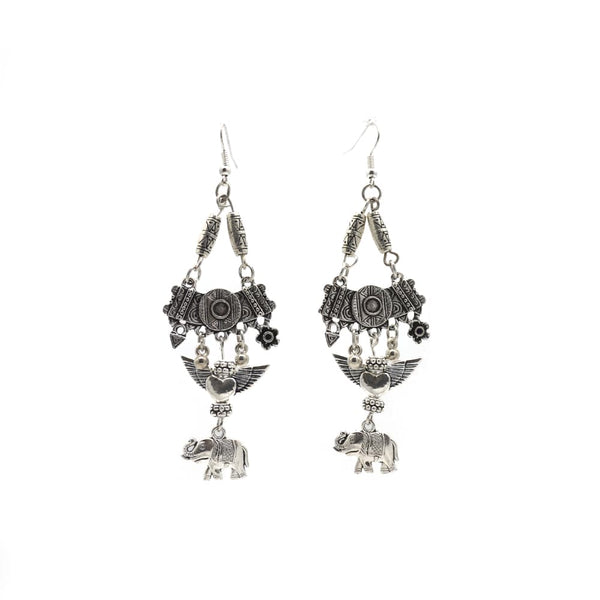 Silver Earring with Elephant design For Women