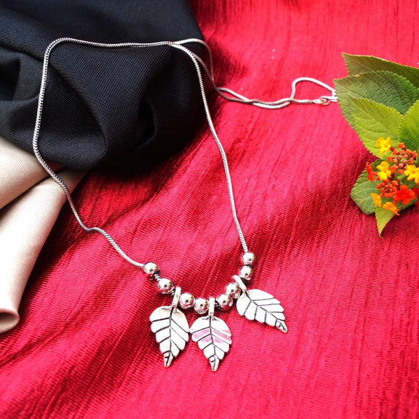 Silver Oxidized Leaves Luxury Afghan Tribal Necklace Set for Women Traditional Jewellery