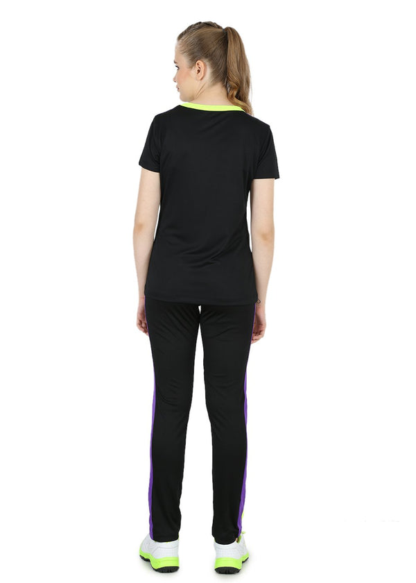 Slim-Fit Black Womens Track Pants - TriFit Polyester