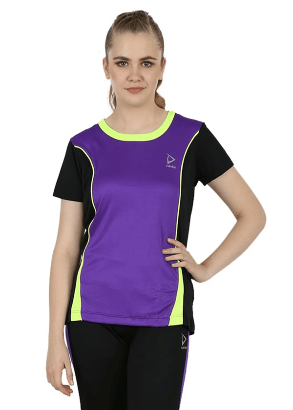Slim-Fit Round Neck Womens T-Shirt - Purple