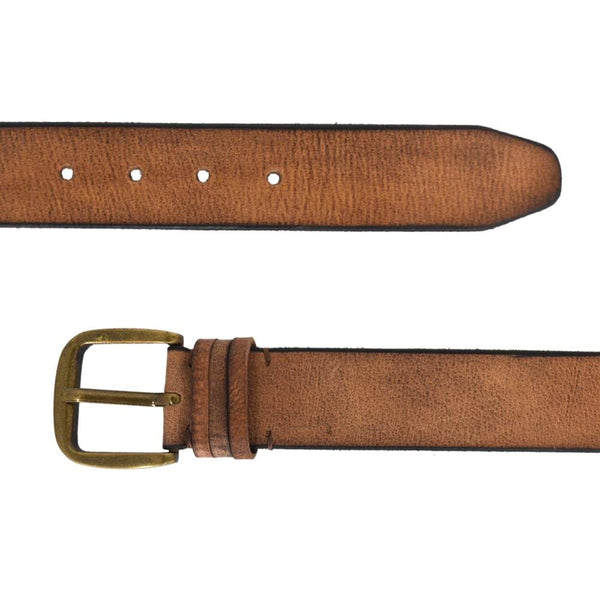 Solid Tan Single Buckle Belt