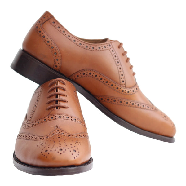 Tan Formal Leather Brogue Shoes