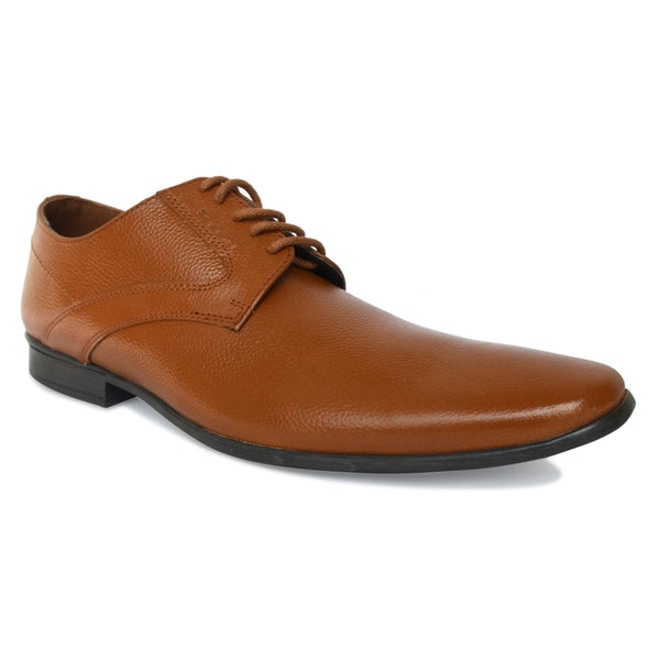 Tan Formal Leather Lace-Up Derby Shoes