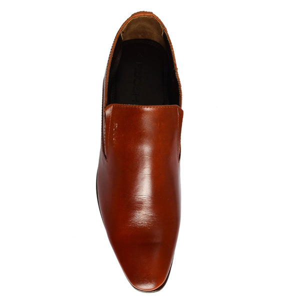 Tan Formal Leather Slip-On Loafers & Moccasins  Shoes