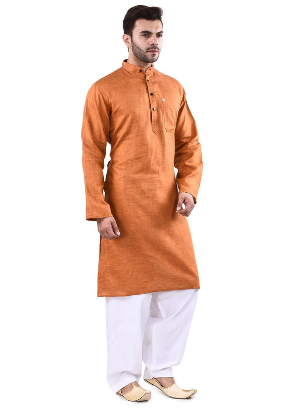 YZBuyer Tan Men Pathani Kurta  Set
