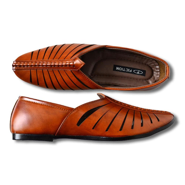 Men Tan Shoe-Style Sandals
