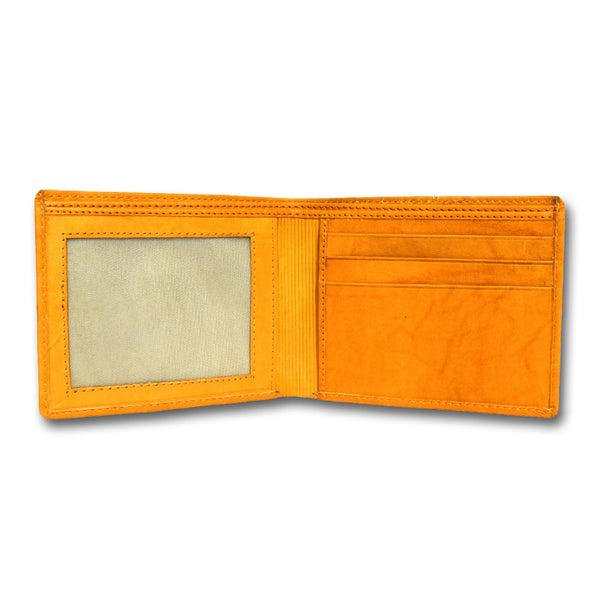 Tan Two-Fold Leather Wallets for Men