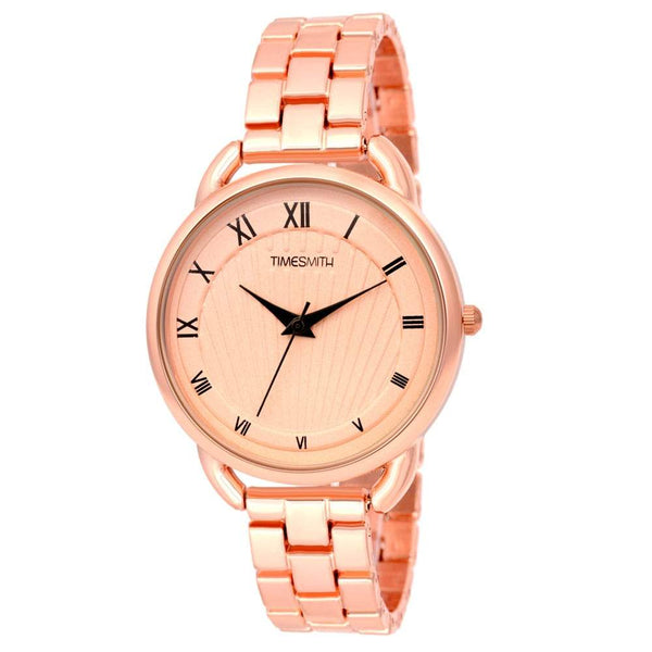 Gold Dial Gold Stainless Steel Strap Branded Analog Watch for Women