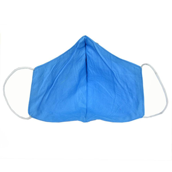 Unisex Sky Blue Solid Reusable Protective Outdoor Face Mask