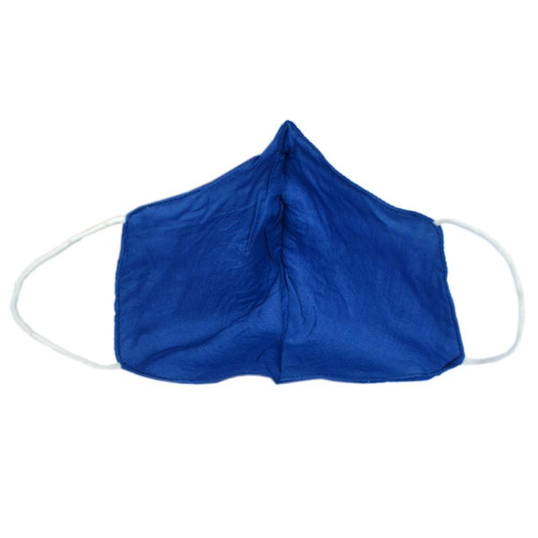 Unisex Navy Blue Cotton Solid Reusable Protective Outdoor Face Mask