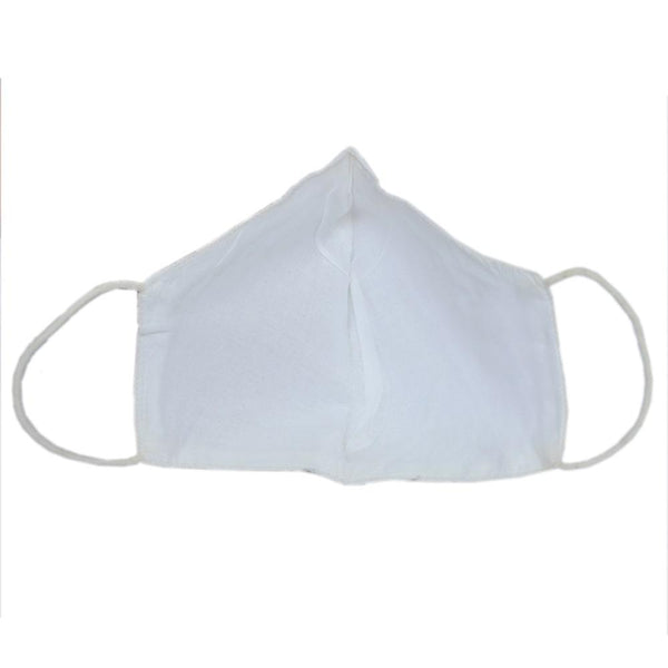 Unisex White Solid Reusable Protective Outdoor Face Mask