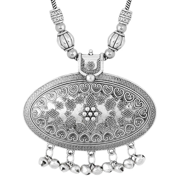 Silver Ethnic Tribal Beads Traditional Handmade Oxidised Necklace For Women