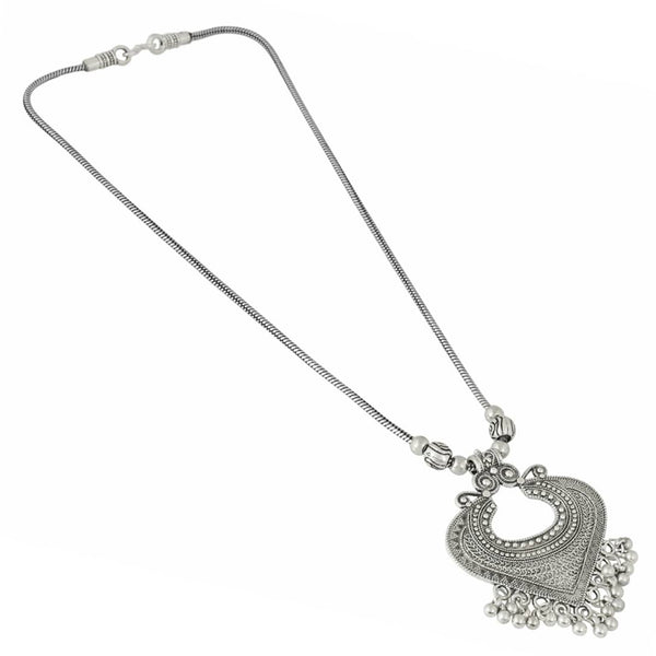 Oxidised Silver-Plated Drop Classy Luxury Handmade Afghan Tribal Necklace for Women