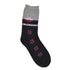Women Black & Grey Cotton Patterned Above Ankle-Length Socks
