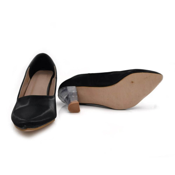 Women Black Patent-Leather Solid Pumps