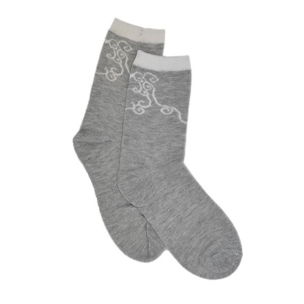 Women Grey Patterned Above Ankle  Socks