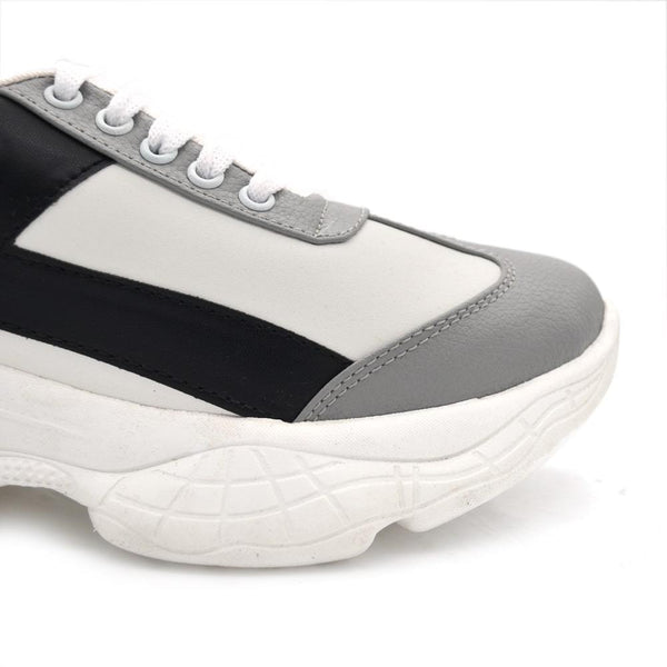 Women Grey & White Colourblocked Sneakers