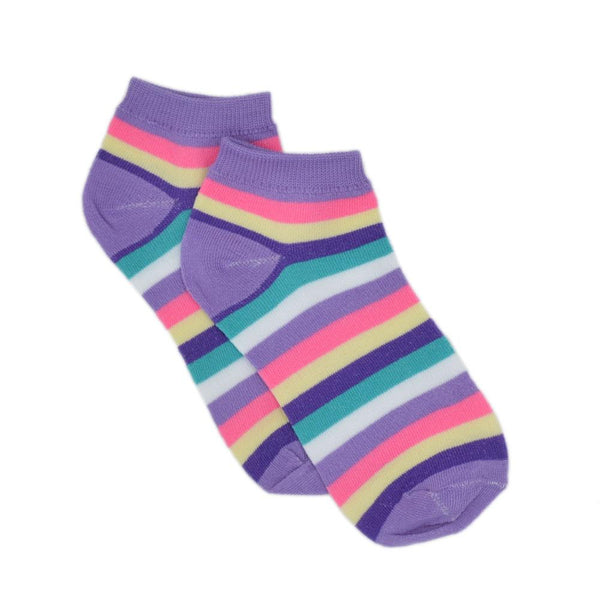 Women Multicoloured Ankle-Length Cotton & Lycra Blended Socks
