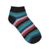 Women Multicoloured Ankle-Length Striped  Socks