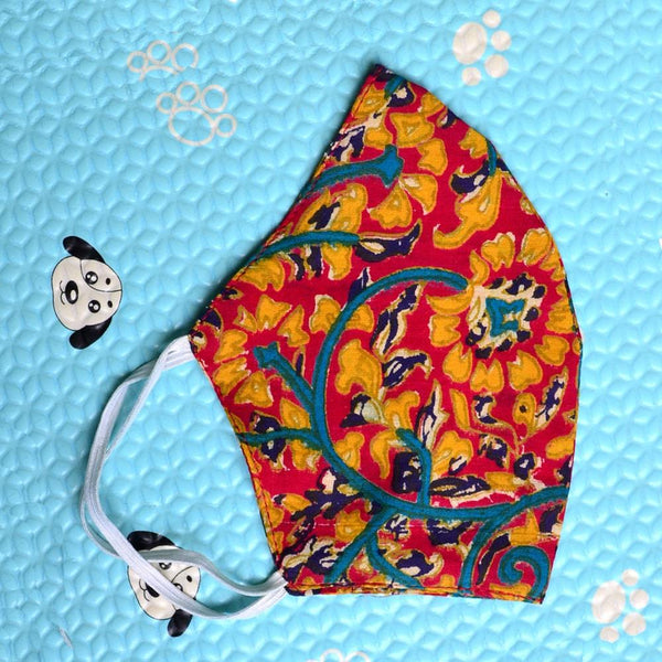 Women Yellowish Multicoloured Printed Reusable Protective Fashion Mask