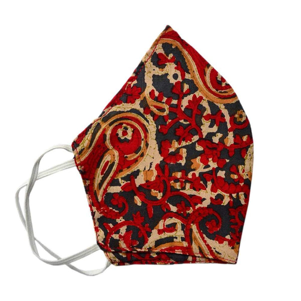 Women Multicoloured Elasticated Printed Reusable Protective Fashion Mask