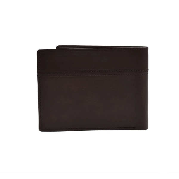 YZBuyer Brown Two Fold Leather Wallets for Men - WLT107