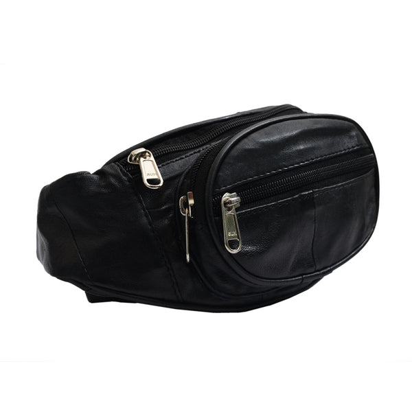 YZBuyer Black Genuine Leather Bag for Men - WLT111