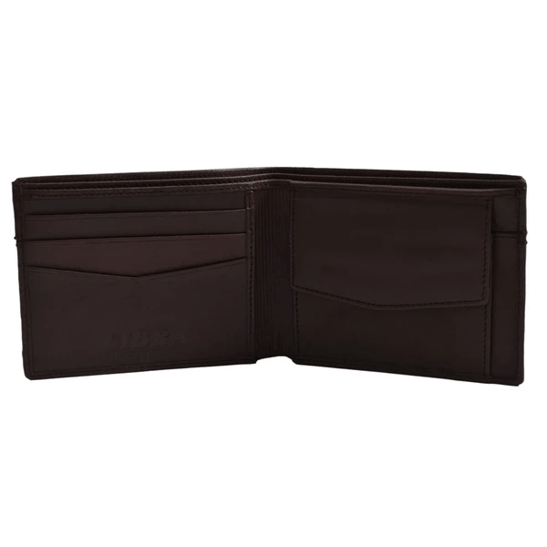 Brown Two Fold Leather Wallets for Men
