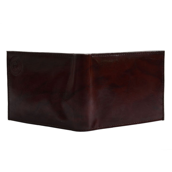 YZBuyer Brown Two Fold  Leather Wallets for Men - WLT103