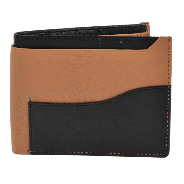 Tan-black wallet