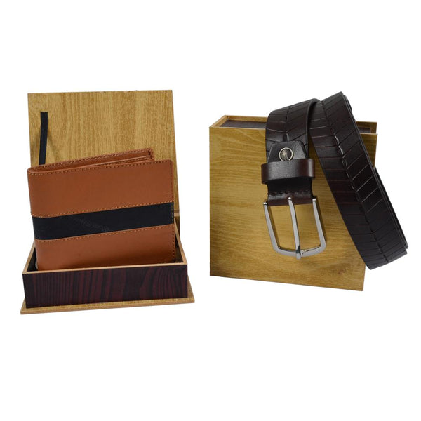 Stripes wallet & black belt