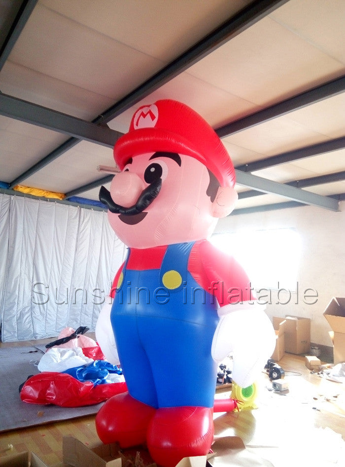 10ft giant inflatable super mario inflatable mario for Christmas party decoration customized inflatable cartoon
