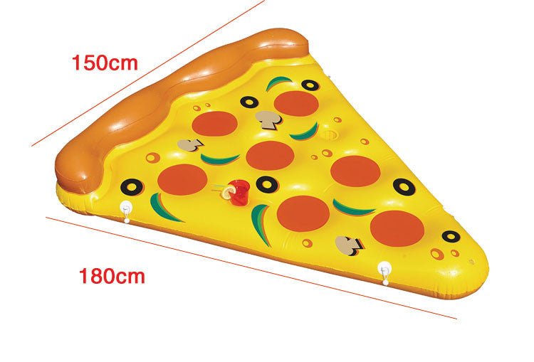 180*150cm Giant Inflatable Pizza Swimming Pool Float Summer Water Toys Outdoor Fun Toy Beach Resting Lounger Air Mattress Raft