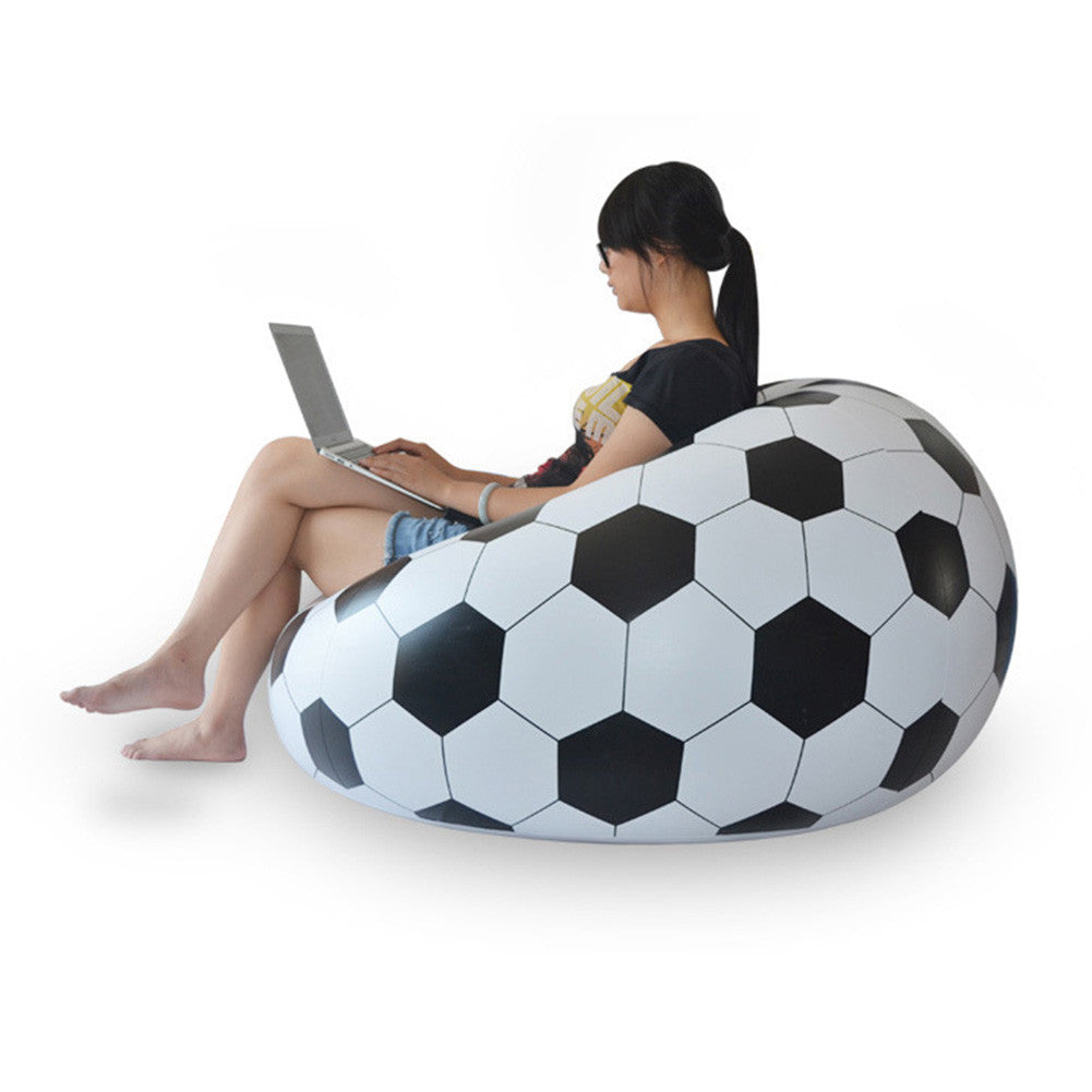 2016 New Fashion Single Seat Inflatable Football Sofa Chair Simple Lounger For Living Room Include Repair Patch 110*80cm