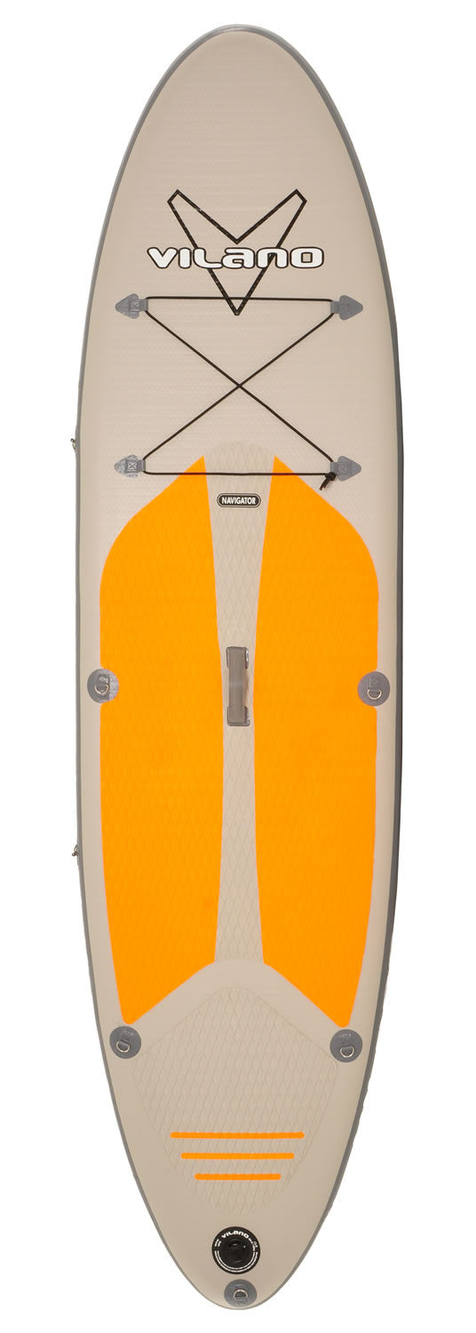 "Vilano Navigator 10' (6"" Thick) Inflatable SUP Stand Up Paddle Board Package"