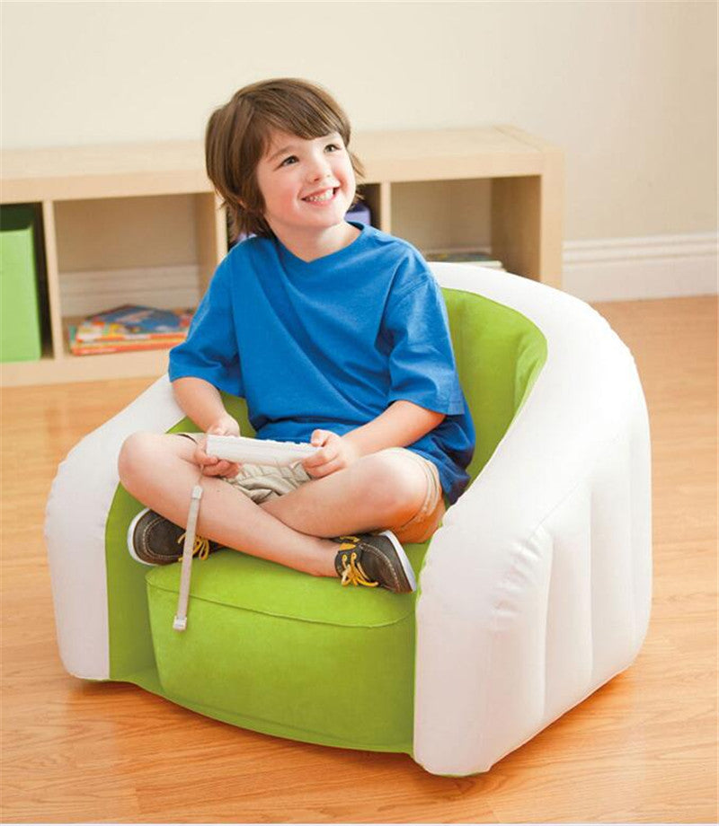 3Pcs/Set Inflatable Sofa Kids Inflatable Chairs Coffee Table Sets PVC Folding Portable Children Learning Stool Baby Beanbag