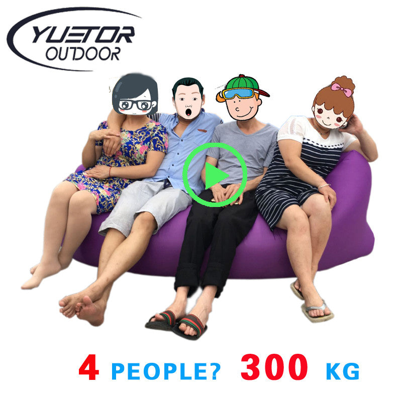 Brand YUETOR  Beach camping sleep Air Bed Lounger laybag Outdoor Hangout  fast folding sleeping inflatable sofa lay lazy bag
