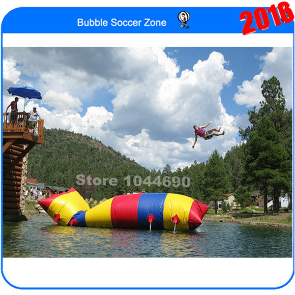 Free shipping cheaper price 5m*2m jump bag,blob water toy(Free pump+ repair kits)