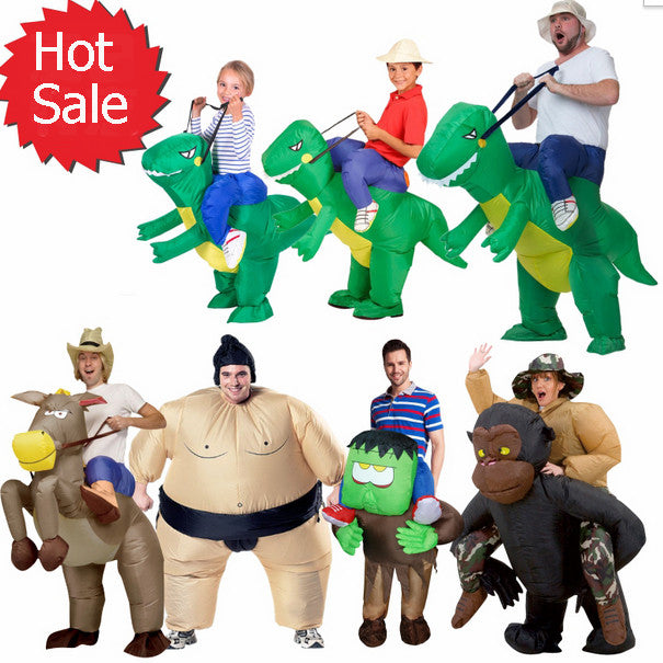 Halloween inflatable child adult costume kids party dinosaur unicorn women halloween costume for kids Carry Me Ride on Costume
